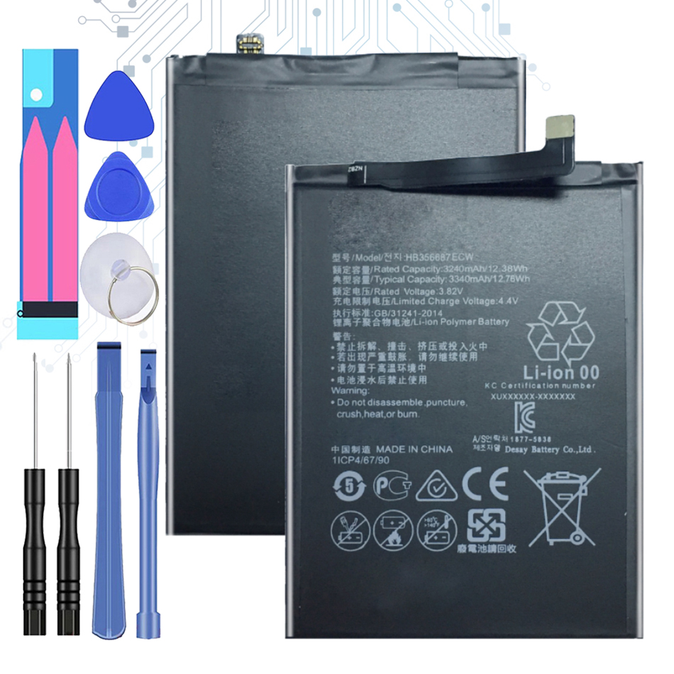 3340mAh HB356687ECW Replacement Battery For Huawei Nova 2 Plus/Nova 2i/ G10/Mate 10 Lite/ Honor 7x/Honor 9i +Tracking Number