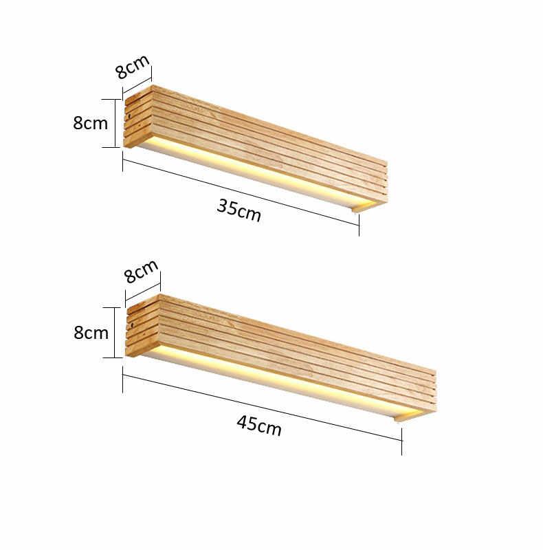Creative נורדי חדר שינה המיטה עץ קיר אור 12W מבואת מחקר רקע מנורת חדר אמבטיה מראה תאורה כל פמוט קיר חזייה