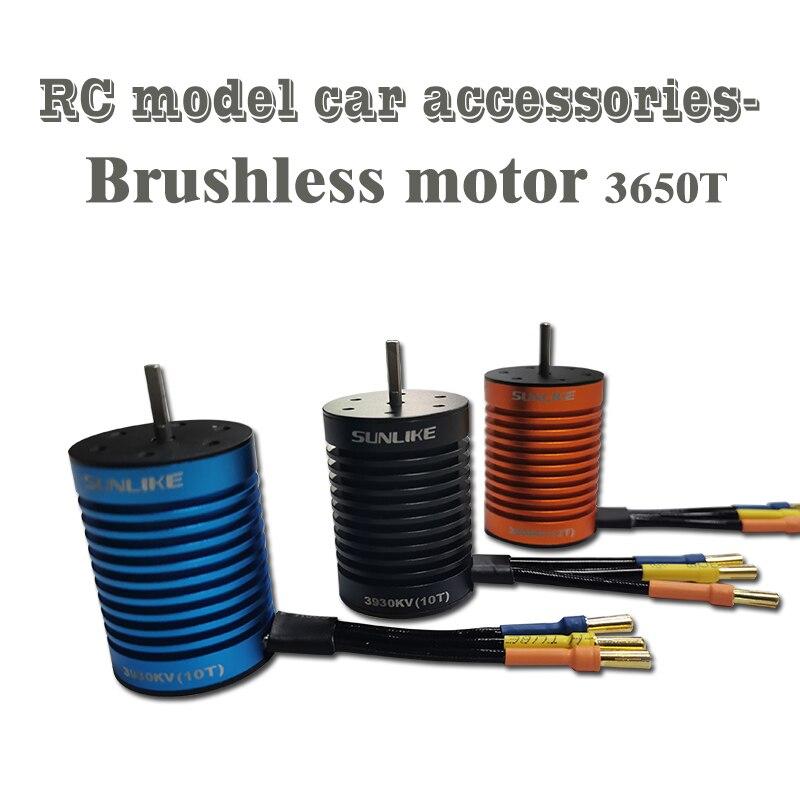 1:10 Parts SL3650T Waterproof 3000KV/13T  3300KV/12T 3930KV/10T 4730KV/9T Brushless Motor RC Car Boat  Motor 45A ESC