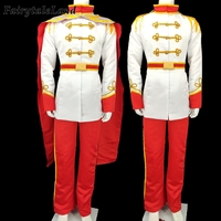 Prince Charming Costume Carnival Halloween Cosplay Cinderella Prince Outfit Fancy Men Suit Cloak Custom Made