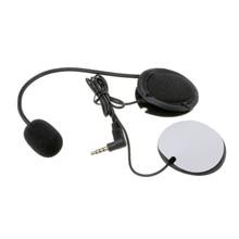 Motorcycle Earphone Speaker Intercom Accessories 3.5mm Jack Plug &Clip For V4 V6 Helmet Headset