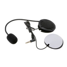 Motorcycle Earphone Speaker Intercom Accessories 3.5mm Jack Plug &Clip For V4 V6 Motorcycle Helmet Headset(China)
