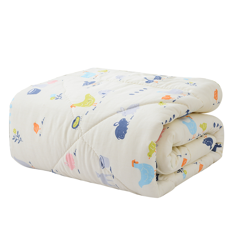 Washable Baby Kid Quilts Cotton Gauze Newborn Infant Wadding Single Quilt Core Microfiber Child Kindergarten Thin Summer Cool