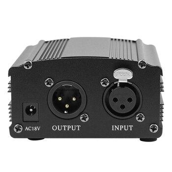 Adatto Per Bm 800 Microfono 48V Alimentazione Phantom Per Microfono A Condensatore Microfono Di Registrazione Di Musica Attrezzature Con Adattatore XLR Cavo Audio