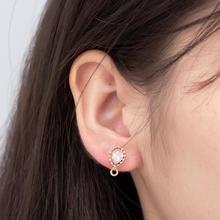 Japanese And Korean Style Trend Personality Simple Sweet Girl Exquisite Small Crystal Earrings Ladies Accessories Hot Jewelry