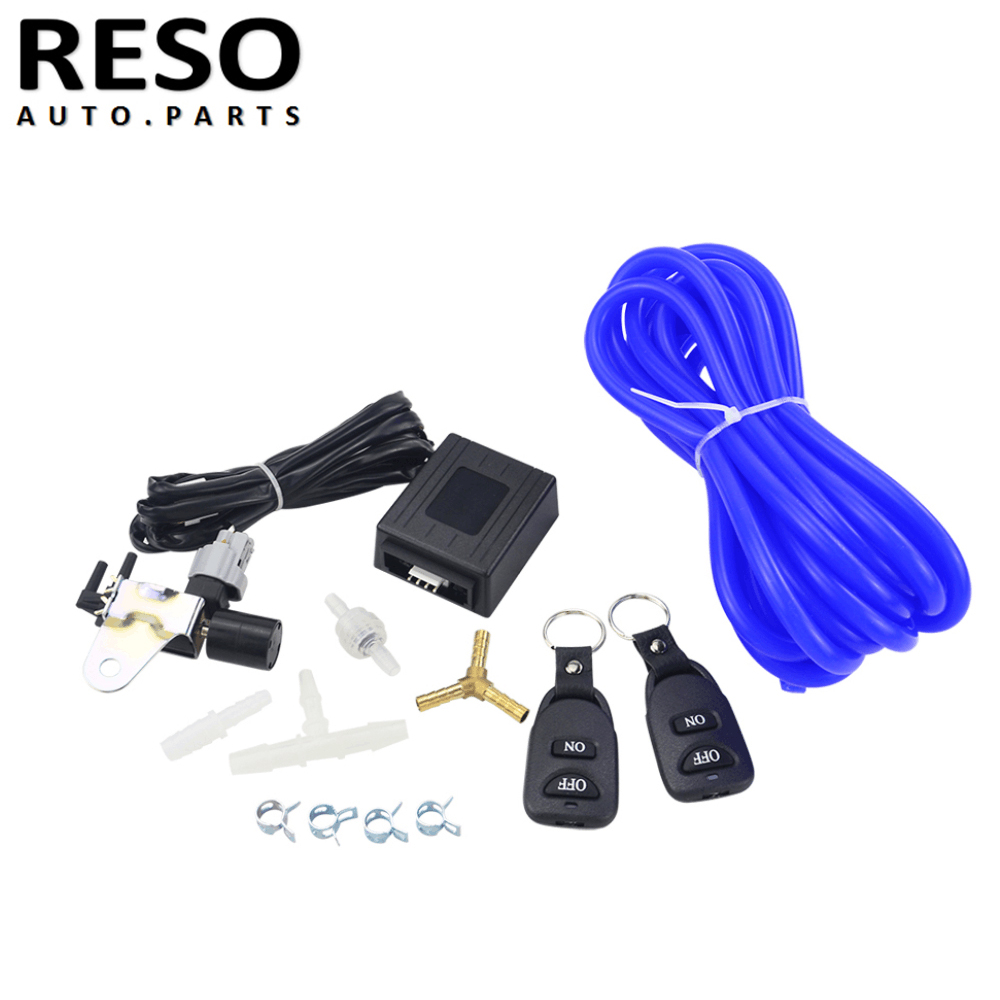 Universal Vacuum Wireless Remote Exhaust Cutout Valve Controller Set With 2 Remotes For GM 6.6L LB7 Duramax Diesel