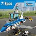 718 шт. LepininglyCity самолет серии международный аэропорт Airbus самолет строительные блоки наборы фигурки Кирпичи игрушки Дети