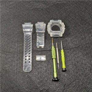 Image 1 - Reemplazo de correa de silicona para reloj GX56, correa de goma deportiva resistente al agua, correas de reloj transparentes, bisel, herramienta de banda de reloj