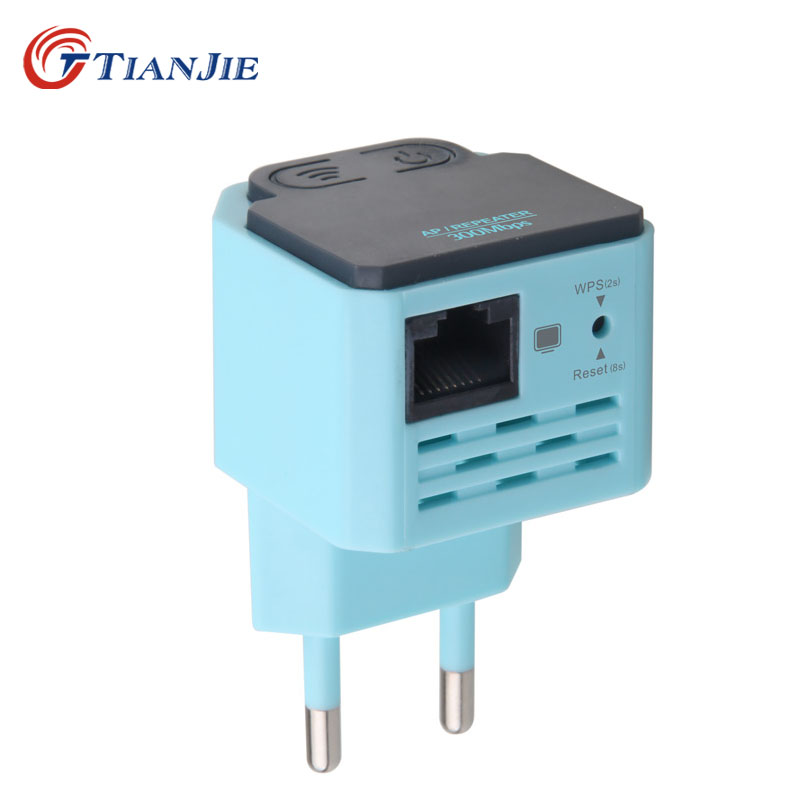 TIANJIE Mini WiFi Router WAN/LAN Port 300Mbps WPS WiFi Repeater Signal Extender 300Mbps Signal Strength Repetidor WiFi Booster