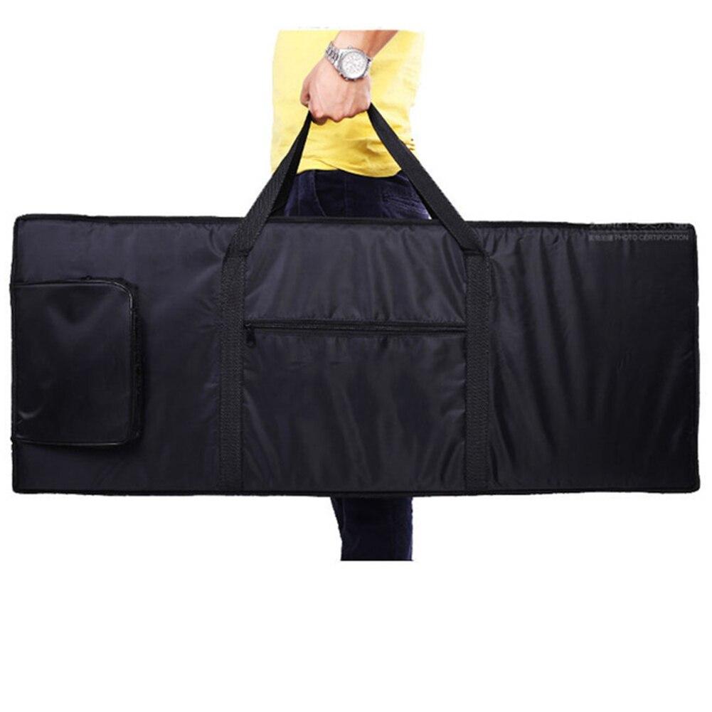 Package 76 Key Cover Waterproof Electronic Organ Easy Clean Oxford Cloth Universal Multi Functional Travel Keyboard Bag Black