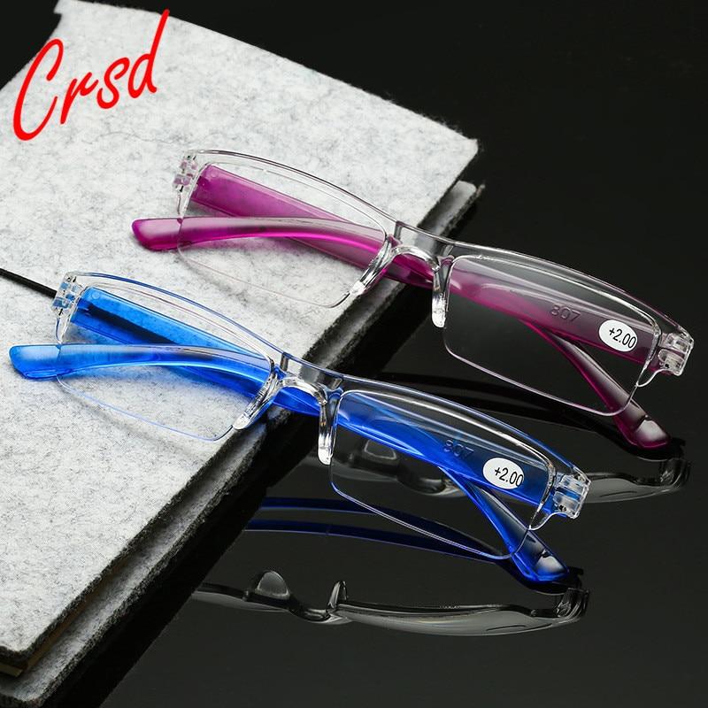 Очки пресбиопические CDRS + 1 + 1,5 + 2 + 2,5 + 3 + 3,5 + 4, портативные ультралегкие пресбиопические очки для мужчин, женщин, мужчин, квадратные очки для ч...