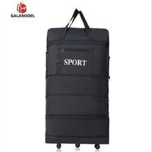 Водонепроницаемый вещевой портативный Дорожный чемодан, воздушная сумка, унисекс, расширяемая Складная багажная сумка с колесом, ночные сумки для сна