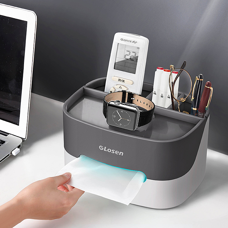 Mobile Phone Holder Stand Data Cable Storage Box Holder Multi-functional Desktop Storage Box Tissue Box Home Office Gift