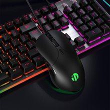 Ratón luminoso de 6 botones para videojuegos, ajuste DPI