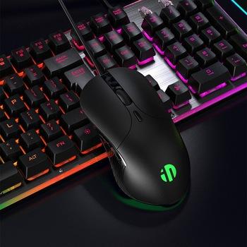 Zawód przewodowa mysz do gier 6 przycisków 4800 DPI ledowy USB optyczny mysz komputerowa mysz dla gracza na PC laptop tanie i dobre opinie CN (pochodzenie) PRZEWODOWY