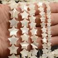 6 мм/8 мм/10 мм/12 мм/14 мм, белый цвет с рисунком звезд, натуральный перламутр в виде ракушки бусины для самостоятельного изготовления браслет би...