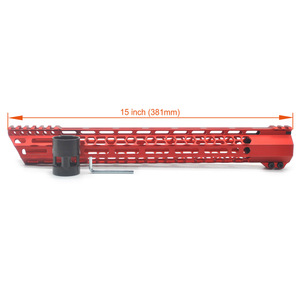 Image 5 - アプラス 15 インチ M 洛クランプハンドピカティニーマウントシステム超軽量スラントカット Design_Black/赤/ タンフィット。 223/5。 56