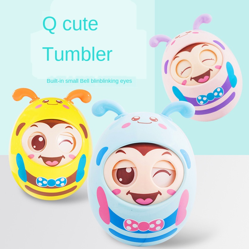 1Pc Baby Early Learning Crisp Ringtone Cute Tumbler Toys Children's Gifts Education Puzzle Doll Waterway Dual-use Tumbler
