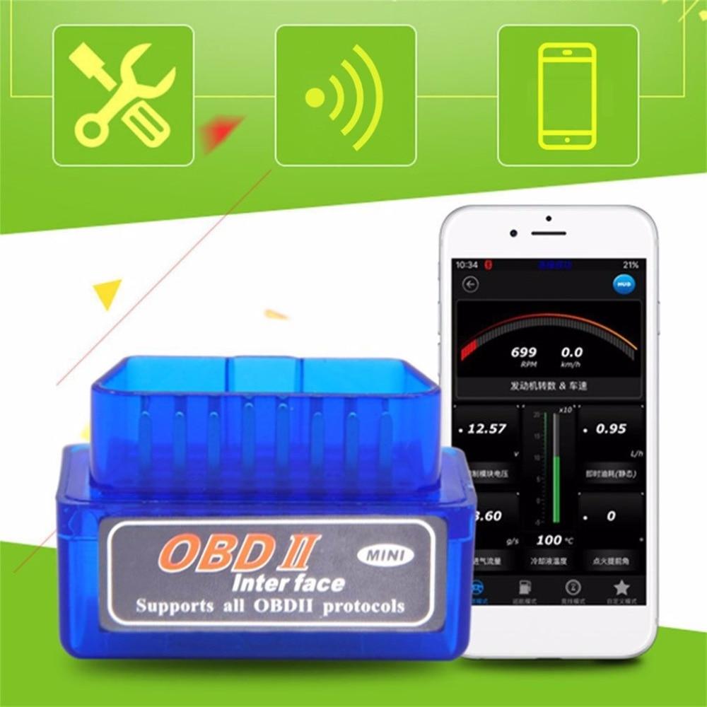 2018 funktioniert auf Android Torque super ELM327 V2.1 Mini ULME 327 Bluetooth OBDII OBD-II OBD2 Protokolle Auto Diagnose Werkzeug Heißer verkauf