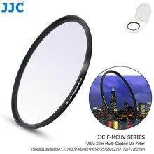 JJC كاميرا تصفية عدسة MC الترا سليم متعدد المغلفة الأشعة فوق البنفسجية مرشح 37 مللي متر 40.5 مللي متر 43 مللي متر 46 مللي متر 49 مللي متر 52 مللي متر 55 مللي متر 58 مللي متر 62 مللي متر 67 مللي متر 72 مللي متر 77 مللي متر 82 مللي متر