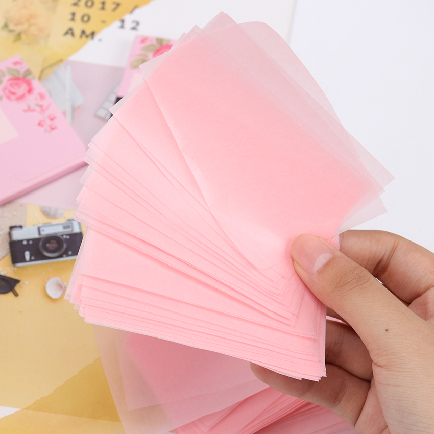 100pcs/pack Linen Pulp Facial Oil Blotting Sheets Paper Cleansing Face Oil Control Absorbent Paper Beauty Makeup Tools