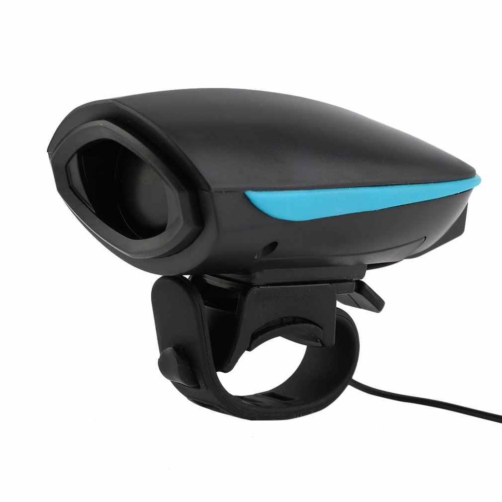 140db Bel Sepeda Listrik Bersepeda Stang Tanduk Keras Outdoor Bell Alarm untuk Keselamatan Malam Naik Sepeda Aksesoris USB Recharge