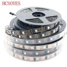 DC5V 5M WS2801 32LED/M Black PCB  5050 RGB LED Strip Addressable