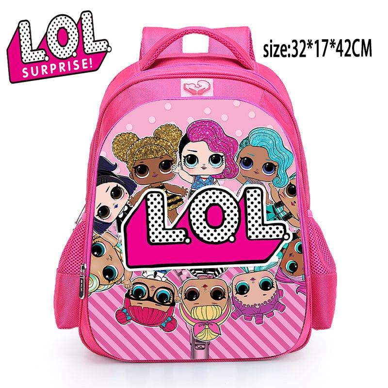 LOL сюрприз куклы милый школьный рюкзак женский Lol куклы Детская школьная сумка для девочек подростков 2S06|Игровые фигурки и трансформеры|   | АлиЭкспресс