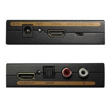 HDMI Audio Extractor Konverter 5.1CH Audio Splitter 1080P Stereo Analog HDMI zu HDMI Optische SPDIF RCA L/R adapter Konverter