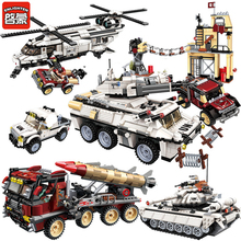 Military Building Blocks War Tank Panzer Chinook Helicopter Vehicle Army Gun Weapon UN Force Hummer DIY Bricks LegoINGLs Toys new 1205pcs military theme tank hummer building blocks m1a2 abrams sep toy tank caterpillar hummer models toys for children