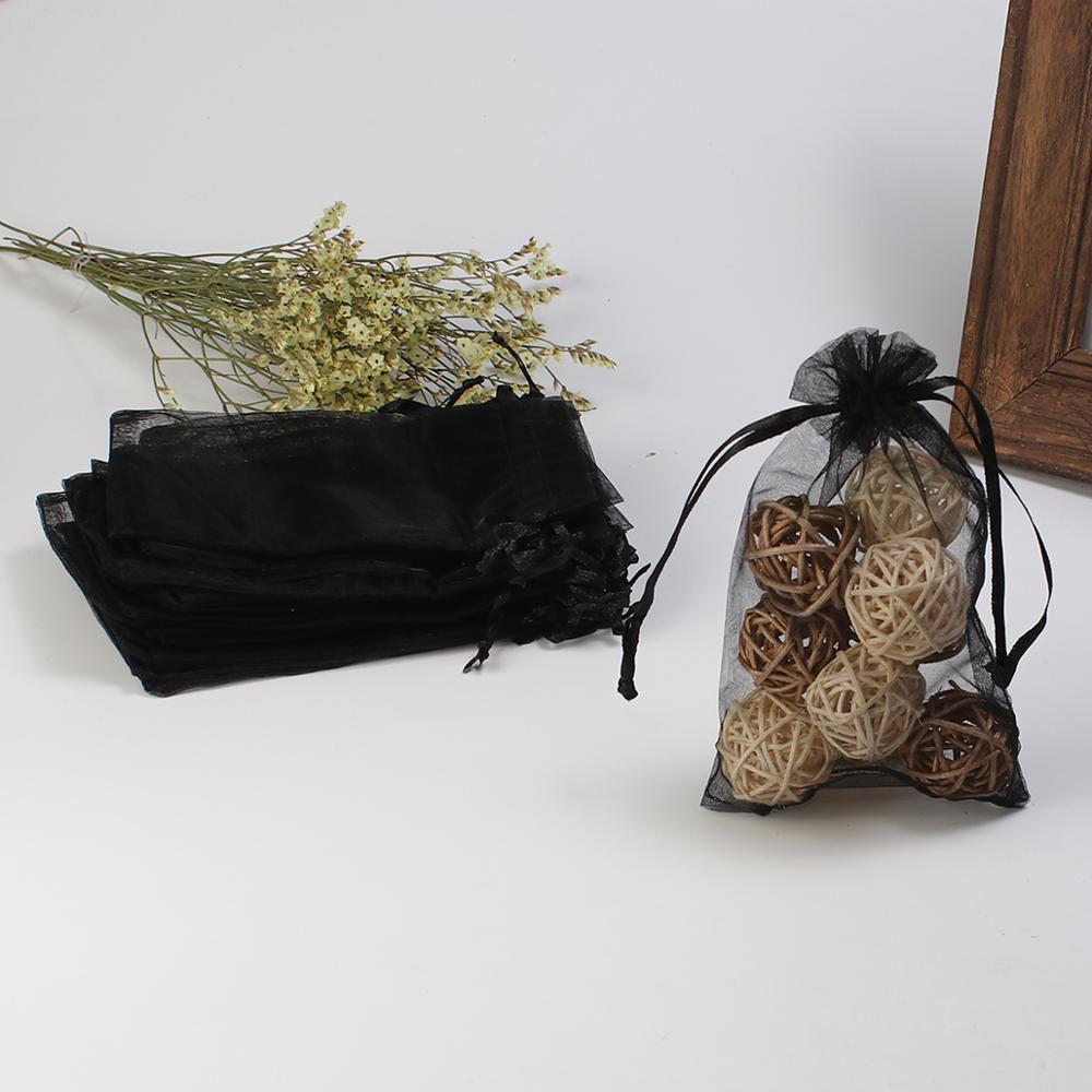 Doreen Box Organza Jewelry Bags Drawstring Rectangle Multicolor (Usable Space: 13x10cm) 15cm X 10cm, 4 PCs