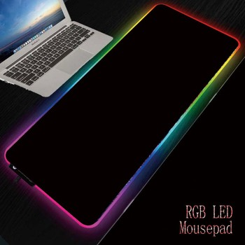 MRGBEST Black Background RGB Gaming Mouse Pad Gamer Led Computer Pad Large XXL Play Mat with Light Backlight Big LED for Player