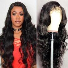 28 30 polegada onda do corpo 13x4 frente do laço perucas de cabelo humano pré arrancado cabelo do bebê peruca frontal do laço do cabelo humano brasileiro para a mulher preta