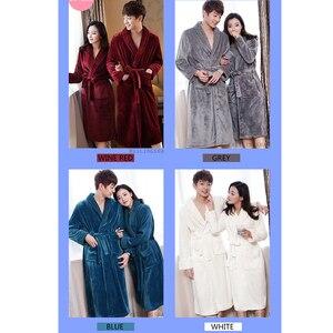 Image 5 - Халат женский фланелевый, очень длинный мягкий и Шелковый банный халат, теплый Свадебный халат для невесты, кимоно, халат для подружки невесты