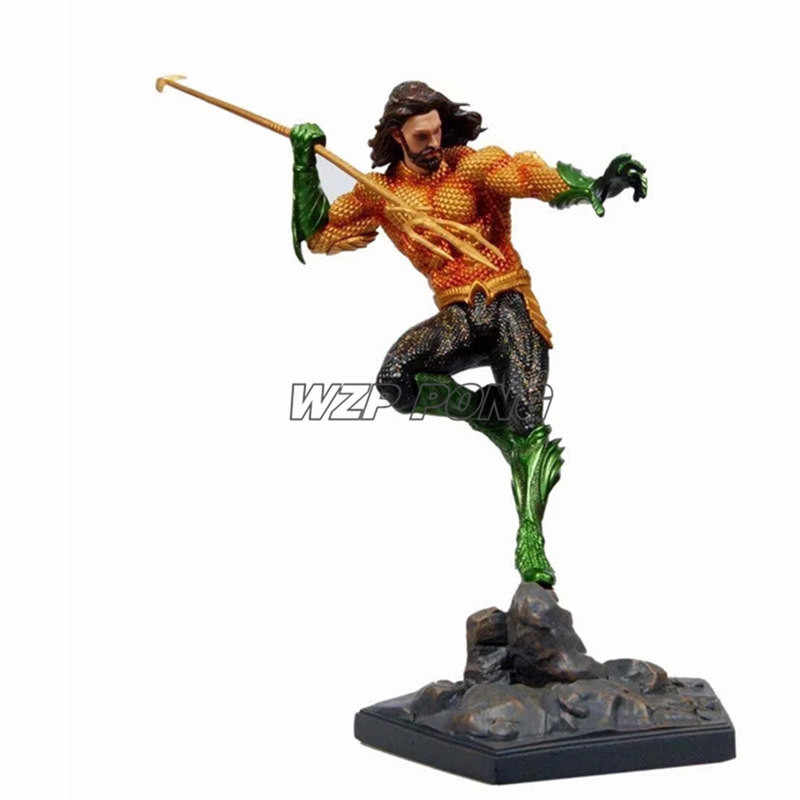 Aquaman 25 CENTÍMETROS Justice League Estatueta Bonecas Brinquedos PVC Action Figure Collectible Modelo Toy Kids Presente