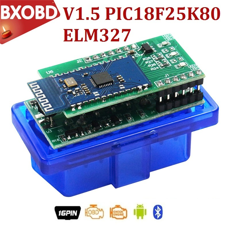 OBD2 Bluetooth Adapter Scanner PIC18F25K80 V1.5 Mini for Android/pc title=