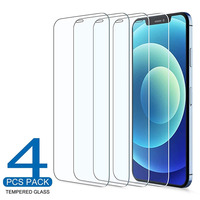 4 pezzi di vetro protettivo su iPhone 11 12 Pro Max XS XR 7 8 6s Plus SE pellicola salvaschermo per iPhone 12 Mini 11 Pro Max vetro temperato