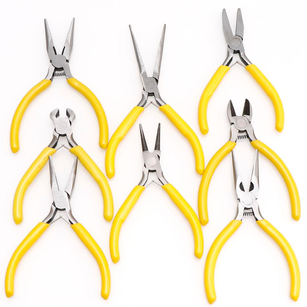 Yellow Style Jewellery Making Beading Pliers Tools Kit Set  Wire Crimping Cable Cutters Hand Tools Long Nose Pliers Multitools