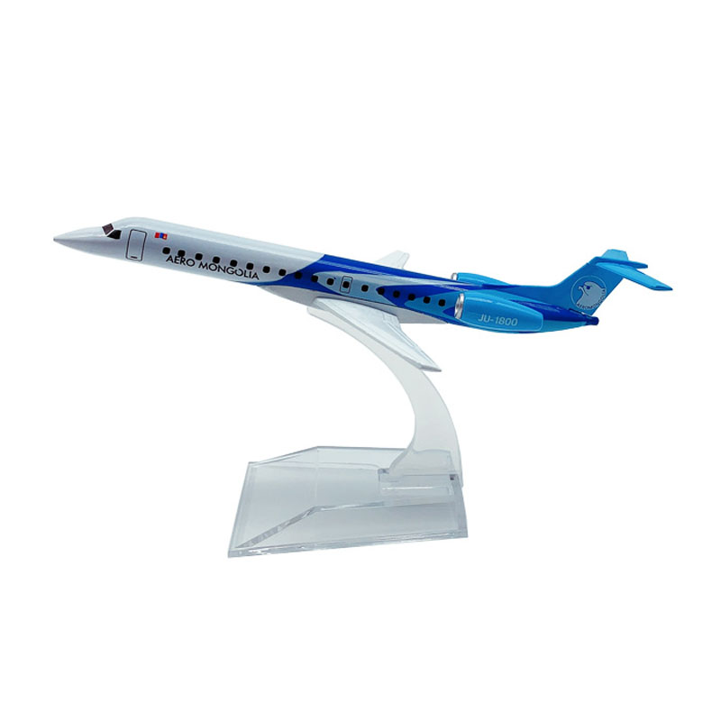 JASON TUTU Airplane Model 16cm AERO Mongolia ERJ145 Plane Model Aircraft Model 1:400 Diecast Metal Airplanes Plane Toy Gift