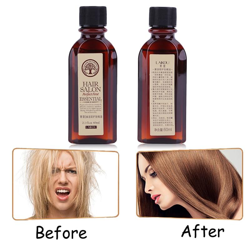 60ml Morocco Pure Argan Oil Haircare Essential Oil Nourish Scalp Repair Dry Damage Hair Treatment Glycerol Hairdressing TSLM1