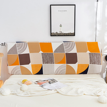 Modern Fashion Bedside Cover Colorful Elastic Printed Dust-proof Bed Head Home Decor Textile 5 sizes