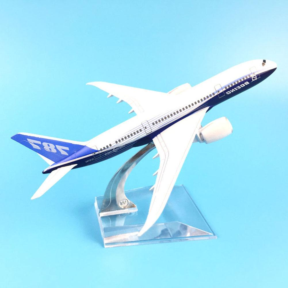 16 CM Biplane B787 Airplanes Plane Model Diecast Aircraft Toys Table Decor Collectible For Airliner Model Kids Christmas Gift