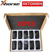 10PCS XHORSE Wired Universal Remote Key 3 Buttons XKTO00EN VVDI2 for Toyota Type English Version
