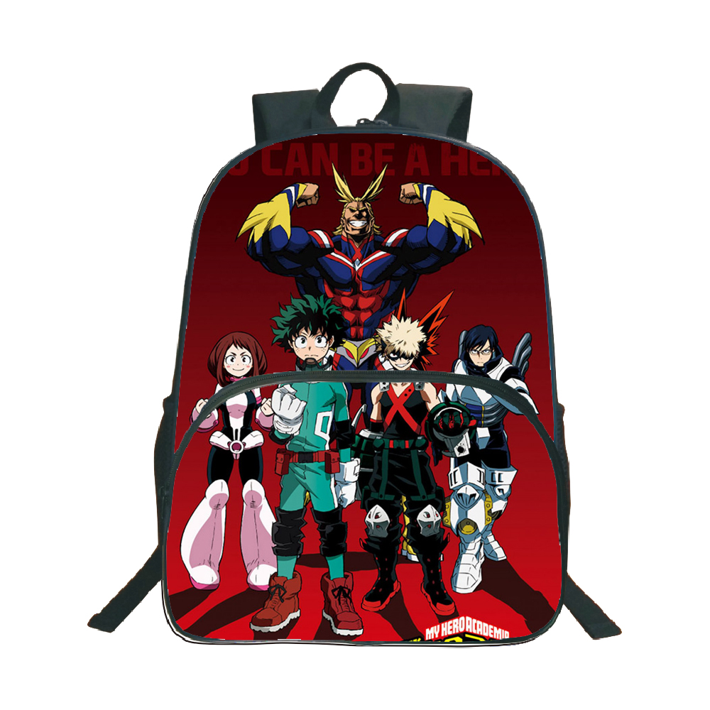 My Hero Academia Backpack Children Boys Girls School Bags Fashion Popular Pattern Laptop Backpack Teen Schoolbag Travel Backpack in Backpacks from Luggage Bags