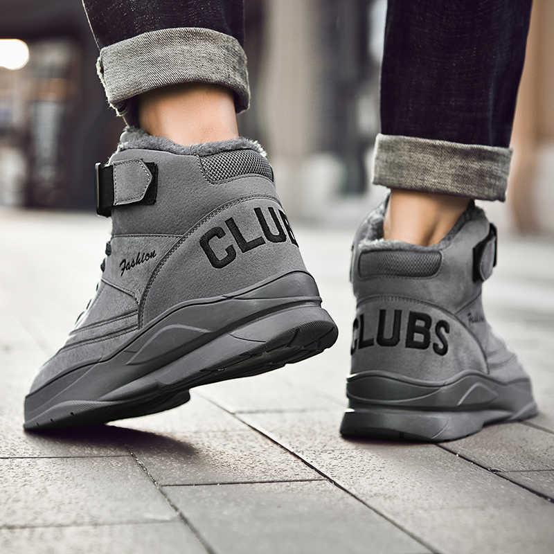 Mannen Winter Warme Schoenen Laarzen Mannelijke Toevallige Lace Up Schoenen Sapato Tenis Masculino Adulto Buty Scarpe Uomo Krasovki Sneakers Schoenen