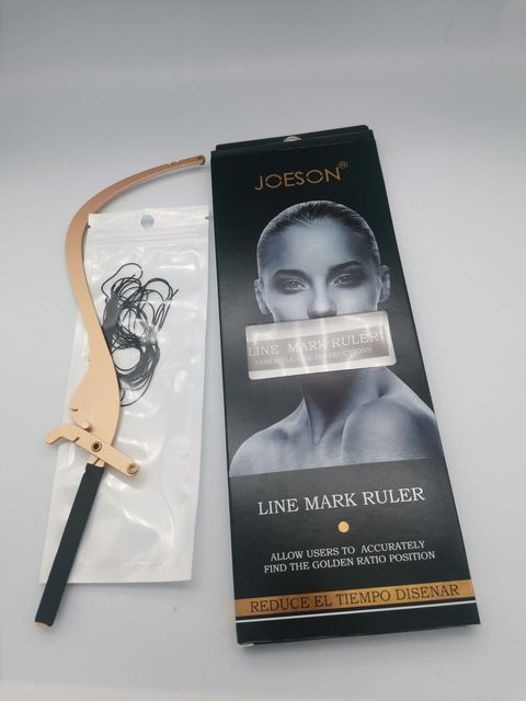 High Quality Microblading Line Marker Ruler with 10pcs Thread Lines Eyebrow Design Measuring Ruler Set Permanent Makeup Supplies 5
