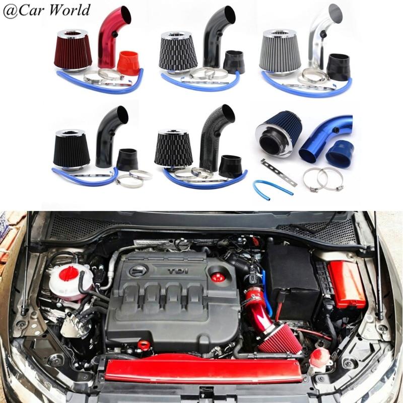 Universal 76mm del automóvil del coche de carreras de entrada de aire frío de Kit de tubería 6XDB