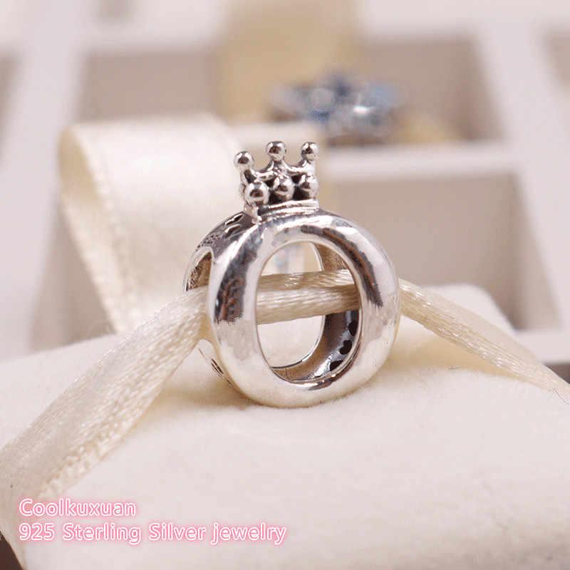 Jesień 100% 925 srebro logo marki korona O koraliki Charm w stylu Fit oryginalny Pandora Charms bransoletka DIY biżuteria