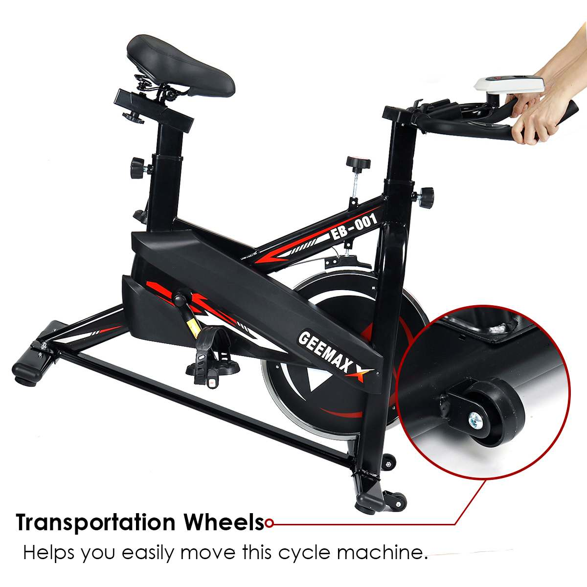 GEEMAX Exercise Bike Cardio Cycling Home Mute Indoor Cycling Weight Loss Machine Gym Training Bicycle Fitness