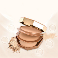 Double-layer powder makeup dry and wet long-lasting concealer oil control double-layer